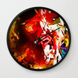 Totem Red Man and the Bird with the White Beak JVO2020P Wall Clock