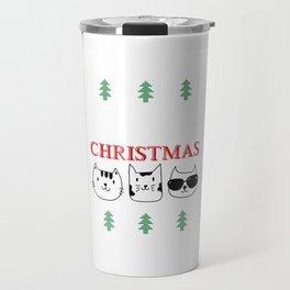 Purry Christmas Cats Christmas Eve Xmas Holiday Celebration Travel Mug
