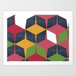 KALEIDOSCOPE 04 #HARLEQUIN Art Print