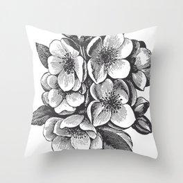 Vintage Floral Bouquet Throw Pillow