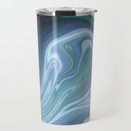 Blue Ocean Wave Abstract Travel Mug