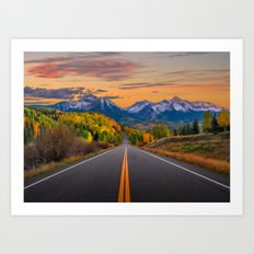 The Road To Telluride Art Print