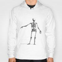 skeleton Hoodies featuring Skeleton by jane.y