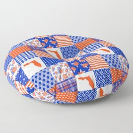 Florida University gators swamp life varsity team spirit college football quilted pattern gifts Floor Pillow