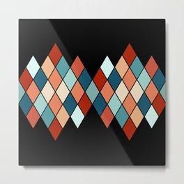 Colorful rhombus pattern Metal Print