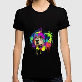 Splash Art Leonberger Dog Lover Gift Idea T-shirt