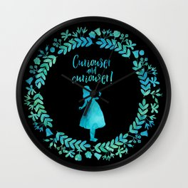 Curiouser and curiouser! Alice in Wonderland. Wall Clock
