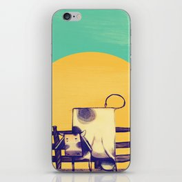 Cow Sunset iPhone Skin