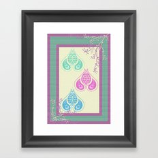 Indian Paisley Framed Art Print