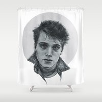 liam payne Shower Curtains featuring Liam Dunbar by runningwithhellhounds