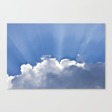 Clouds over Seaside Canvas Print