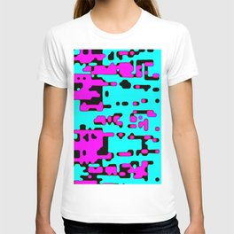 jitter, violet and blue 7 T-shirt