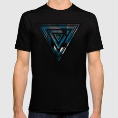 Blue For You / Pattern #8 Mens Fitted Tee Black MEDIUM