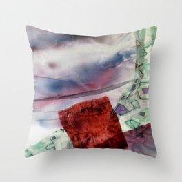 Carré rouge Throw Pillow