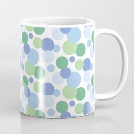 Cool Blue, Green & White Spot Pattern Coffee Mug