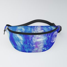 winter moon abstract digital painting Fanny Pack