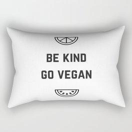BE KIND - GO VEGAN Rectangular Pillow