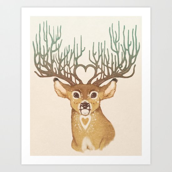 Your Love Is Deer To Me Art Print