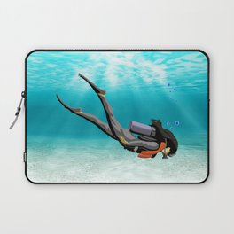 Female S.C.U.B.A. Diver Laptop Sleeve