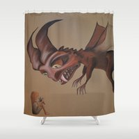 nightmare Shower Curtains featuring Nightmare by Walko