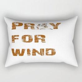 Kitesurfers Pray for Wind Rectangular Pillow