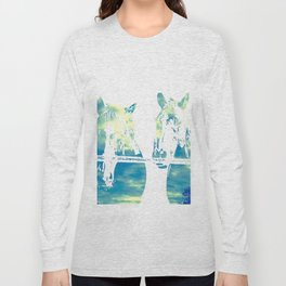 Two Horses and Sky Long Sleeve T-shirt