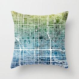 Phoenix Arizona City Map Throw Pillow