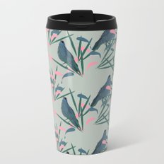 Kokako Wallpaper Pattern Metal Travel Mug