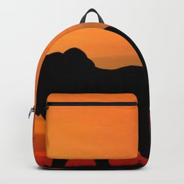 Elephants in the African sunset Backpack