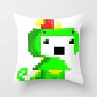 fez Throw Pillows featuring Rawr played Fez by Leilei Pan