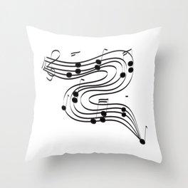 Music Dance Throw Pillow