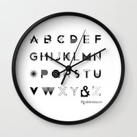 font Wall Clocks featuring Modernissimo Font by Resistenza