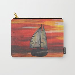 Sailboat at Sea During Sunrise Carry-All Pouch