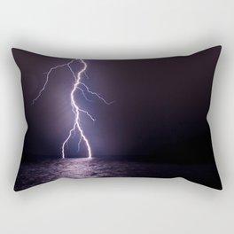 Lightning at Sea Rectangular Pillow