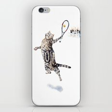 Cat Playing Tennis iPhone & iPod Skin