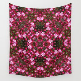 Spring blossoms kaleidoscope - Strawberry Parfait Crabapple Wall Tapestry