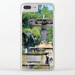 Kenan Memorial Fountain Clear iPhone Case