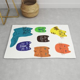 Colorful Cats Rug