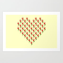 Heart in Bloom Art Print
