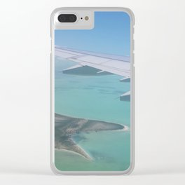 Arriving in Paradise Clear iPhone Case