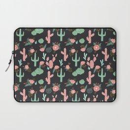 Cactus florals dark charcoal colorful trendy desert southwest house plants cacti succulents pattern Laptop Sleeve