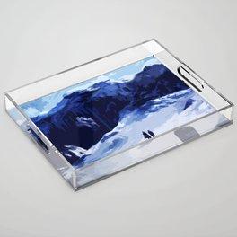 Tardis Art At The Snow Mountain Acrylic Tray