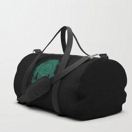Dreamcatcher crow: Green background Duffle Bag