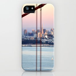 SAN FRANCISCO & GOLDEN GATE BRIDGE AT SUNSET iPhone Case