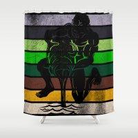 aquarius Shower Curtains featuring Aquarius by Rendra Sy
