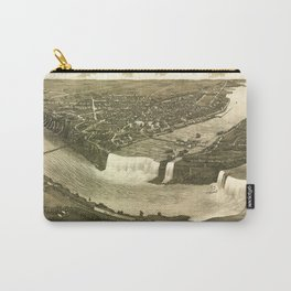 NIAGARA FALLS New-York city old map Father Day art print poster Carry-All Pouch