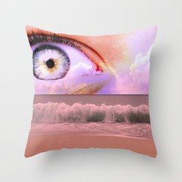 water eyes Throw Pillow