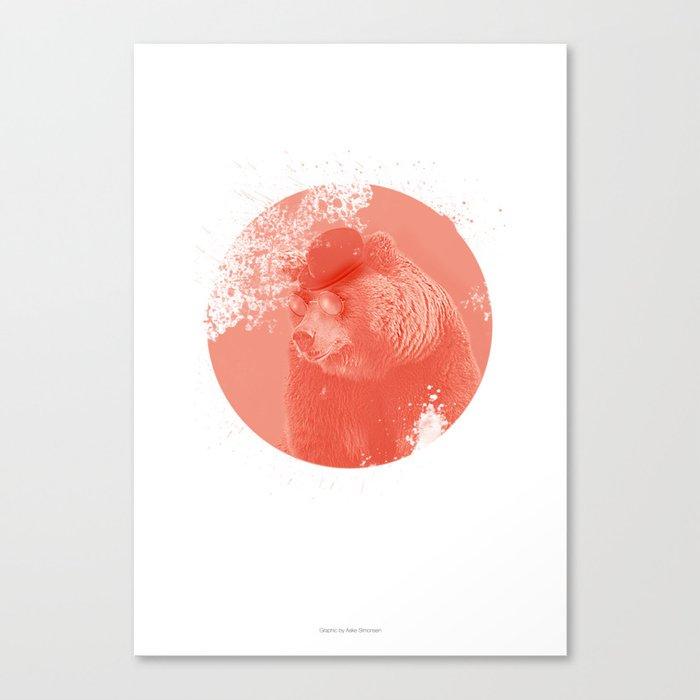 Stylish Bear Canvas Print