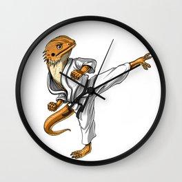 Bearded Dragon Karate Wall Clock