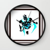 anonymous Wall Clocks featuring anonymous by Flo Zero